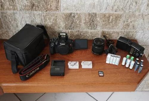 Canon T5i + 18-55mm + Bolsa + Cartão 16gb + Flash De Brinde