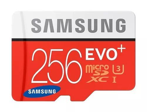 Cartão Samsung Micro Sdxc Evo 256gb 100mb/s Uhs-3 4k
