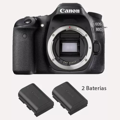 Câmera Canon Eos 80d Dslr (somente Corpo) +baterias