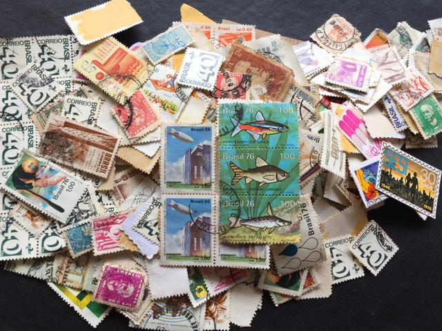 Coleção de selos, novos e usados