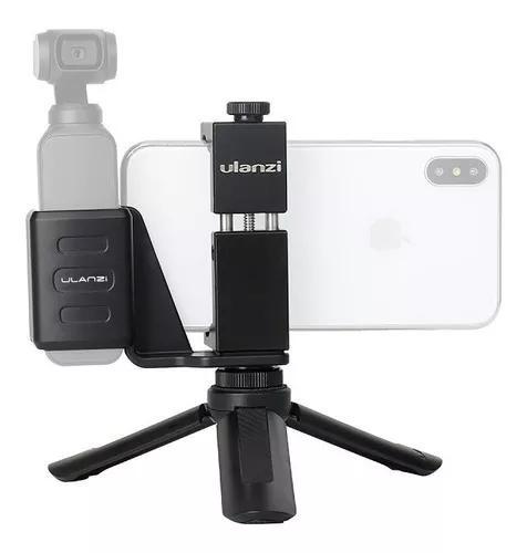 Suporte Smartphone Para Osmo Pocket C Sapata Led Mic +
