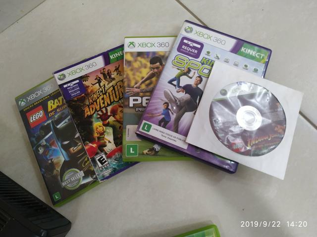 XBOX  GB com Kinect 18 jogos originais e 3 controles