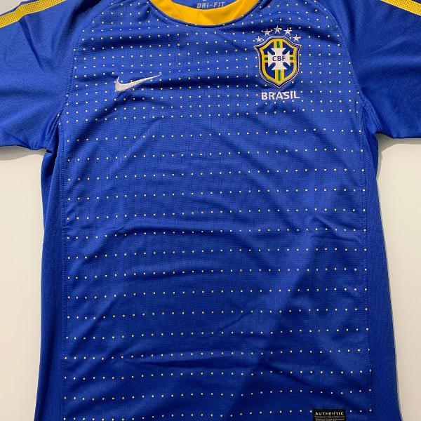 camisa nike seleção brasileira baby look m edição