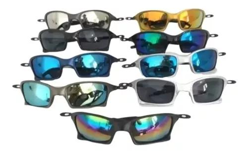 Kit 10 Óculos Juliete De Sol Masculino Colorido Atacado