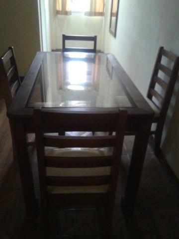 Mesa para sala com 4 cadeiras