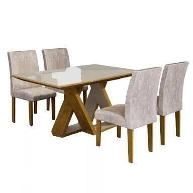 Oferta ! Mesa de Jantar Bella 4 cadeiras - Pronta
