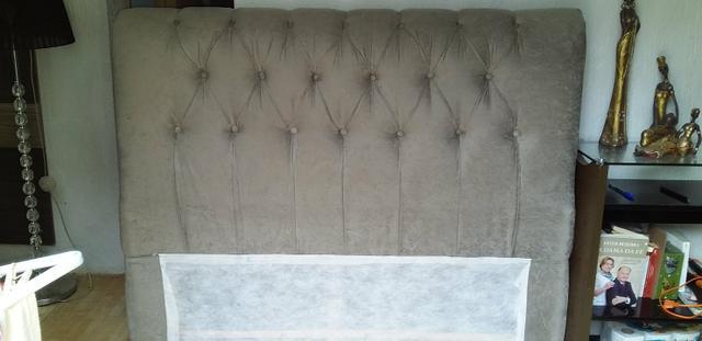 Torro cabeceira de cama box de casal (semi nova com 3 meses