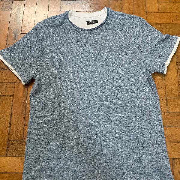 zara - camiseta dupla camada