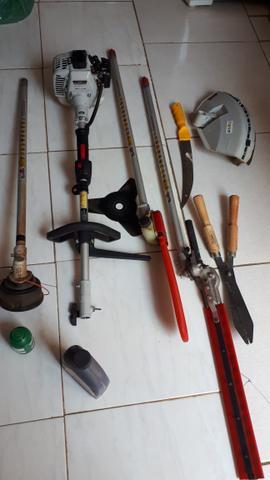 Kit completo pra podas de arvores e roçagem de terrenos