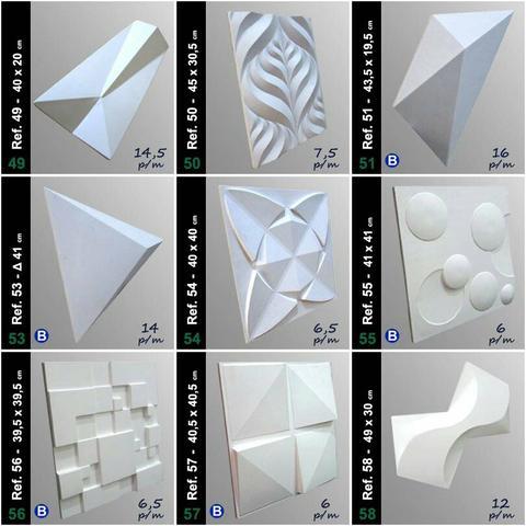 Placa 3D de gesso
