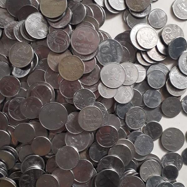 5Kg de moedas antigas de cruzeiros e cruzados!