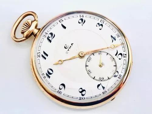 Relógio De Bolso Suíço Cyma Plaquê De Ouro Cal 775 Déc