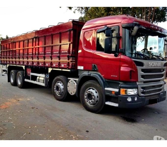 Scania P 310 8X2 Bitruck Leito Opticruiser Graneleiro Ano 14