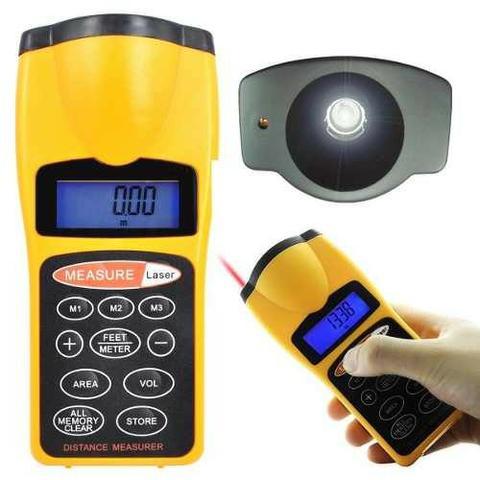 Trena Digital A Laser Medição Distância Alcance 18 Metros