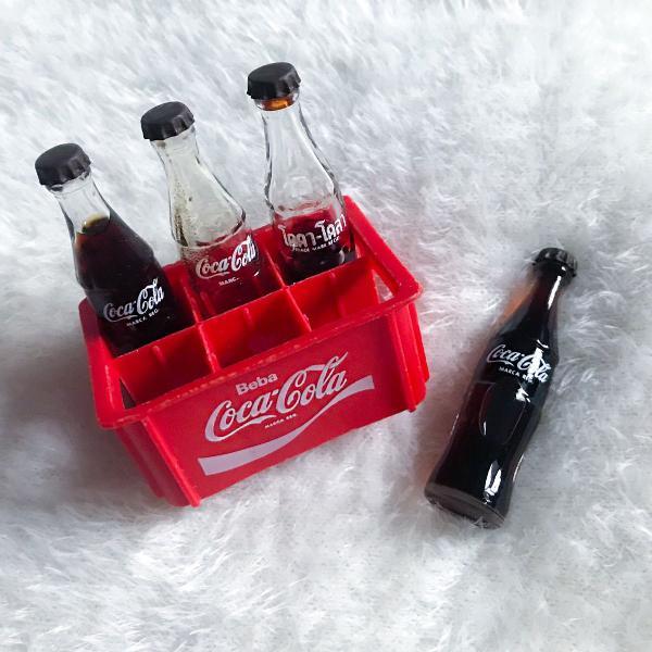 coleção mini engradado coca-cola anos 70 raridade