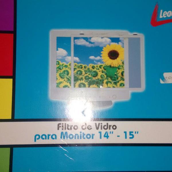 filtro de vidro para monitor 14 - 15