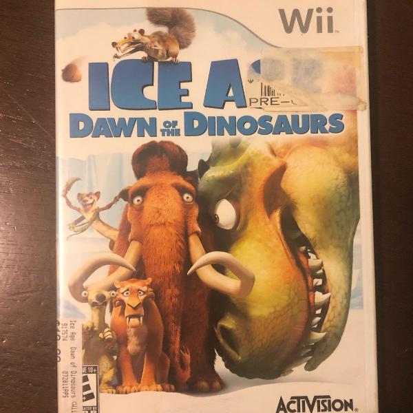 jogo wii ice age dawn of the dinosaurs (era do gelo)