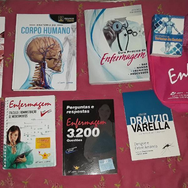 kit de livros de enfermagem da Japy livros