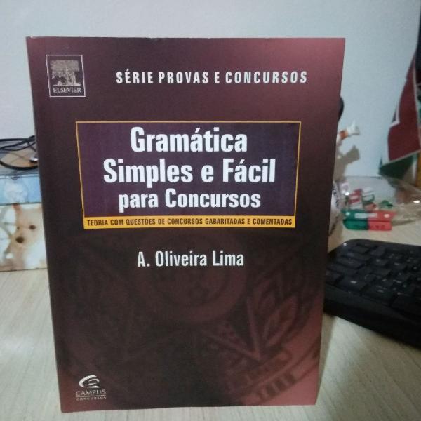 livro gramática simples e fácil para concursos - série