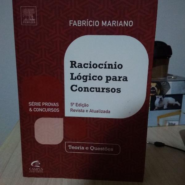 livro raciocínio lógico para concursos - séries provas e