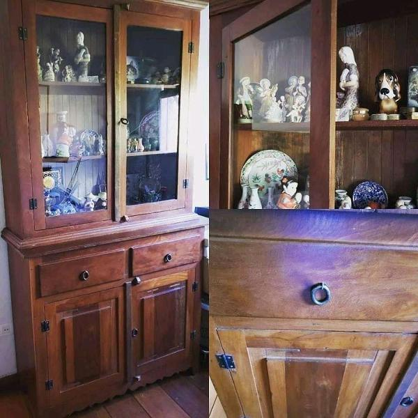 armário 4 portas 2 gavetas madeira demolição 115x43x220