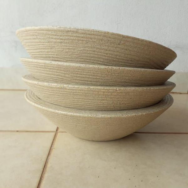 kit 4 vasos grafiato areia para sua rosa do deserto