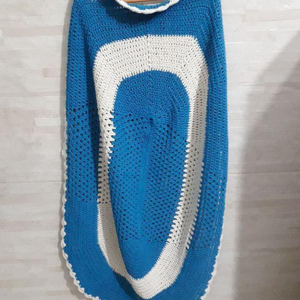 kit com dois tapetes de crochê