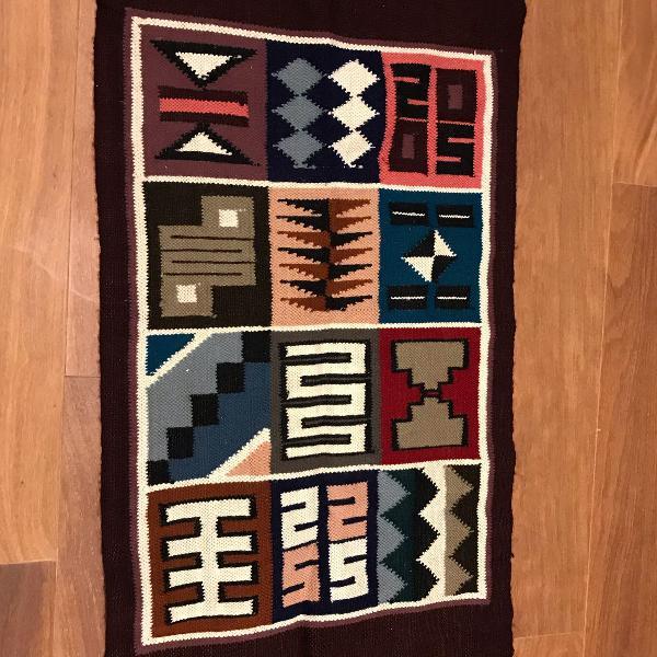 tapete inca peruano 80 x 50 cm
