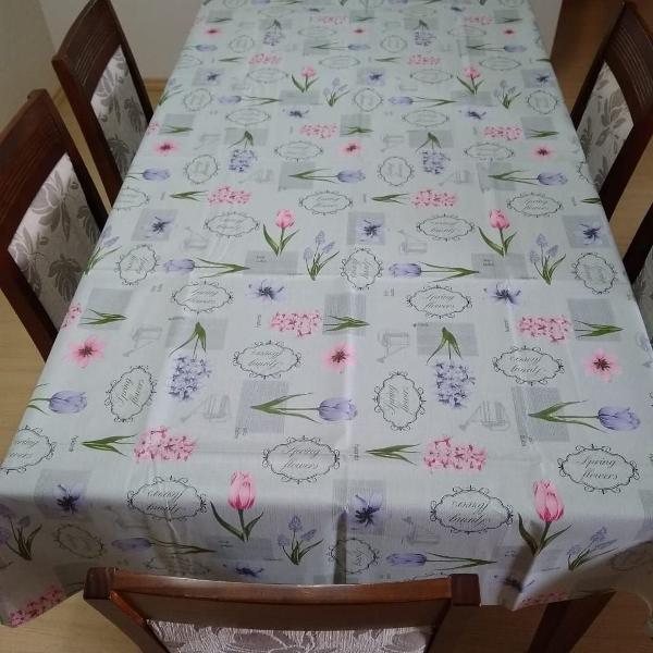toalha de mesa térmica tulipas 1.4 x 1.5m top