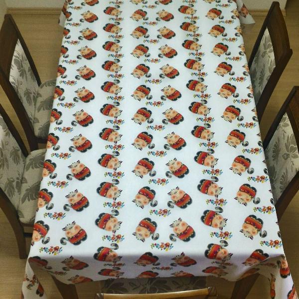 toalha de mesa térmica vaquinhas 1,4 x 2,10m top