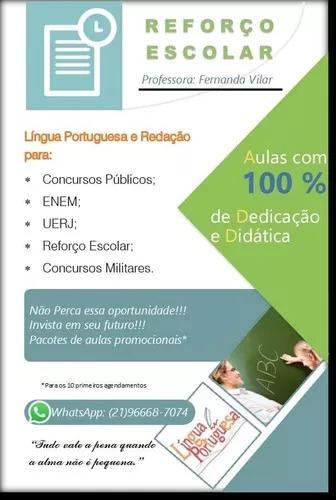 Aulas Particulares De Português, Redação,
