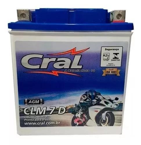 Bateria Ytx7l-bs Clm7d Cral Cbx Twister Fazer 250 Cb 300