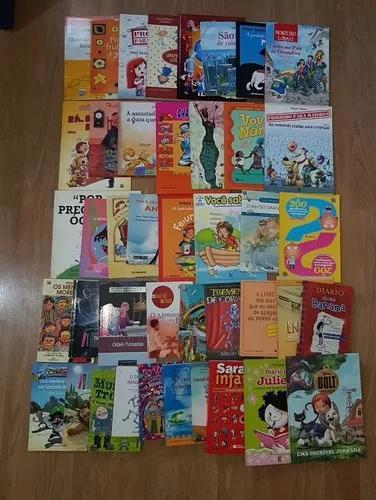 Lote Com 50 Livros Infanto Juvenis Diversos