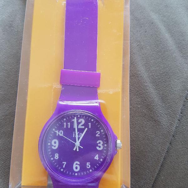 Relógio roxo nunca usado