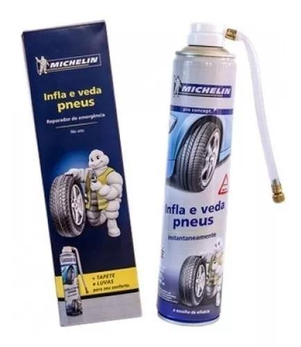 Reparador Instantâneo Inflador Pneus Michelin Moto Carro