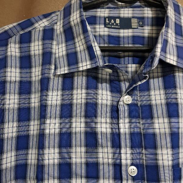 camisa xadrez azul - luigi bertolli