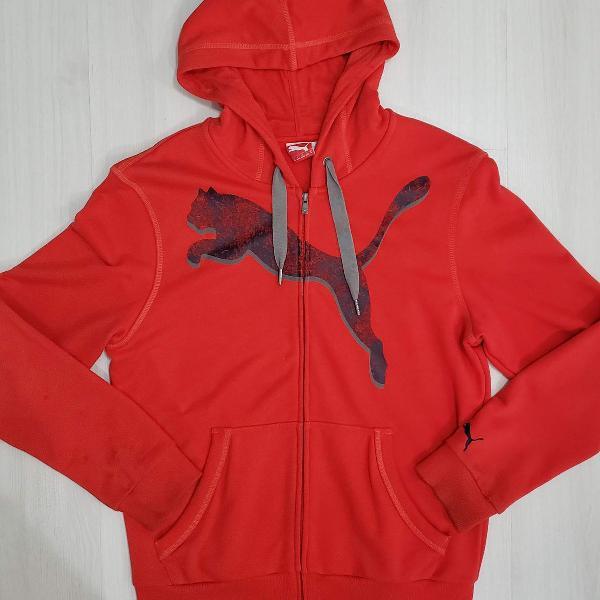 jaqueta puma vermelha com capuz
