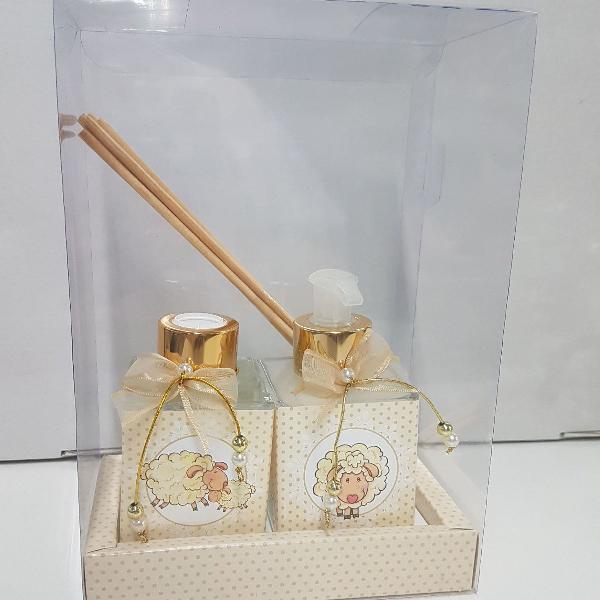 kit aromatizador e sabonete líquido