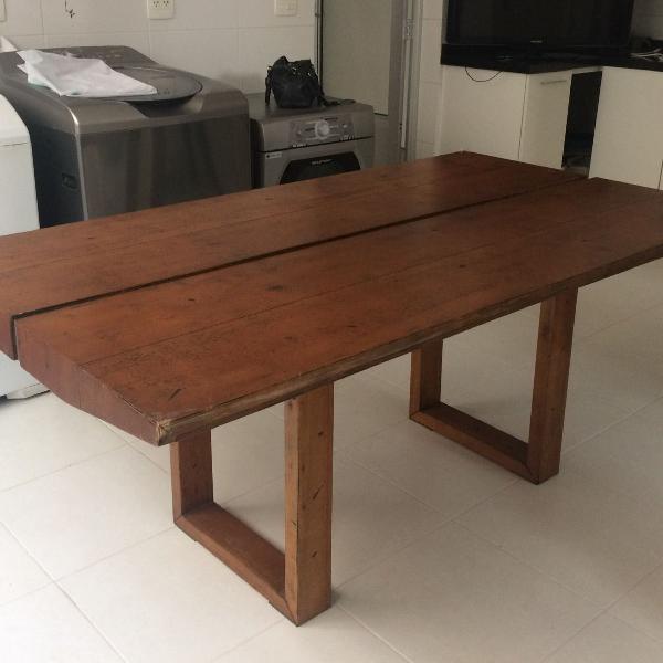 mesa de madeira maciça 8 lugares