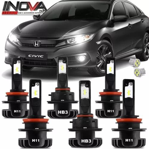 Lampada Sup Led Plus New Honda Civic 17 A 2019 Farol E Milha