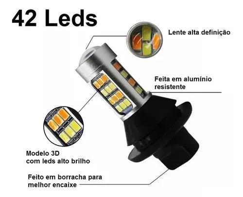 Lâmpada Led Drl Lanterna Seta Branca Laranja