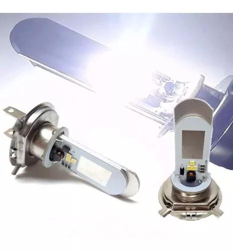 Novo Lampada Farol Led H4 Moto / Carro 8000k Super Branca Cg