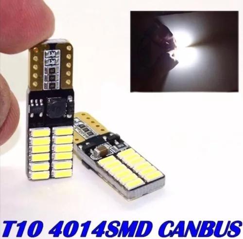 Par Lâmpada Pingo Led T10 4014 Samsung 5000k Branco Canbus