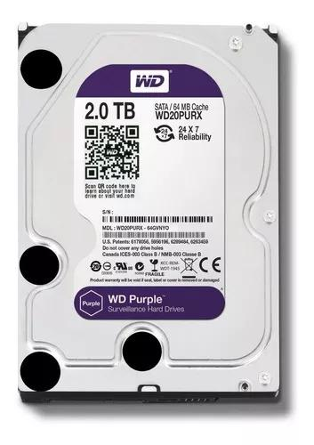 Hd 2tb Wd Purple Surveillance Dvr 2 Tb Wd20purz Intelbras