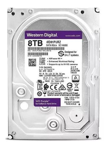 Hd 8 Tb Wd Purple Wd81purz Melhor Preço Do Mercado