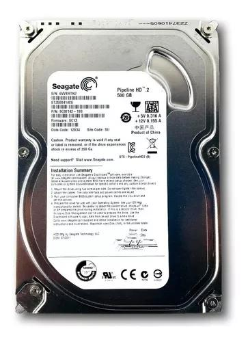 Hd Interno Pc Dvr 500gb Pipeline Seagate Sata 2 Novo S