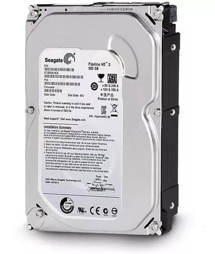 Hd Seagate Pipeline Sata 500 Gb 8m Pc, Dvr Novo C/ Garantia