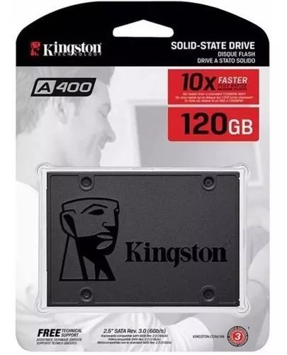 Ssd 120gb Kingston 2,5 Sata 3 Novo A400 Lacrado Original +