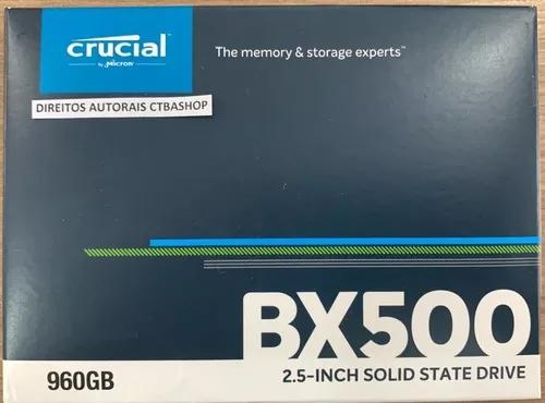 Ssd Crucial Bx500 960gb Sata Iii - Nota Fiscal - Curitiba
