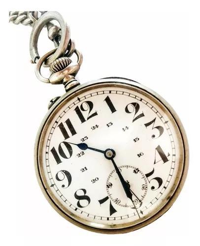 Antigo Relógio De Bolso Suíço Dito Regulador De Precisão
